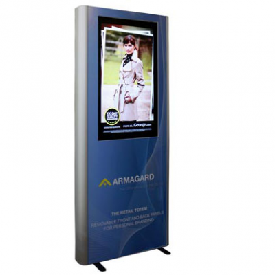 Digital Signage Werbung von Armagard