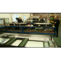 Produktionsstätte für digitale Menütafeln.