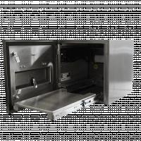 Freie Ansicht des Reinraumdruckergehäuses.
