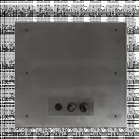 Rückansicht des Armagard-Reinraumdruckergehäuses.
