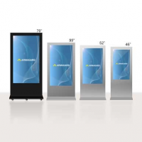 LCD digital signage in four different sizes