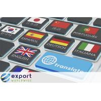 Export weltweit Maschinenübersetzung gegen menschliche Übersetzung