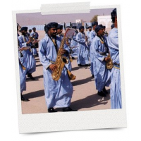 Military band instruments for independence celebrations