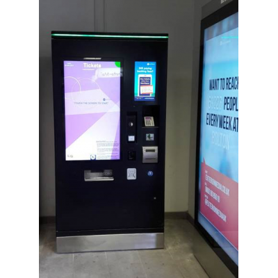 A PCAP foil touch screen ticket machine