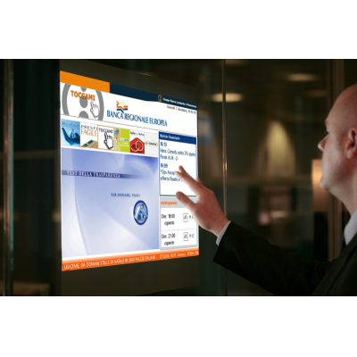 A man using a PCAP custom touch screen