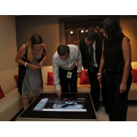 A projected capacitive touch screen table.