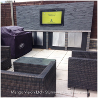 outdoor TV cabinet from Duratek Solutions