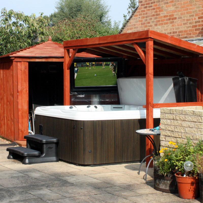 Pool Areas With A Waterproof Tv