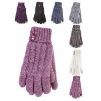 Women's gloves in different colours by HeatHolders, the thermal clothes supplier.