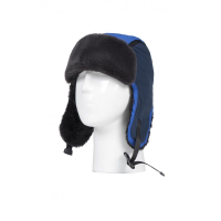 Blue thermal hats for boys