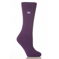 A warm sock in purple by HeatHolders.