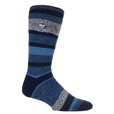 Blue, striped men's warmest socks from HeatHolders