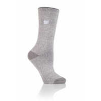 Warm grey socks from HeatHolders, the leading thermal sock manufacturer.