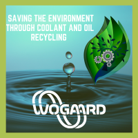 Cutting oil recovery system to save the environment.