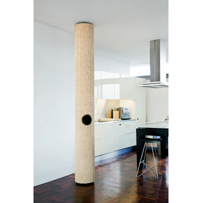 Tomcat 1 bespoke made-to-measure luxury cat trees for floor-to-ceiling indoor cat climbing, lounging and interactive play
