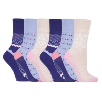 Patterned soft socks for women from GentleGrip.
