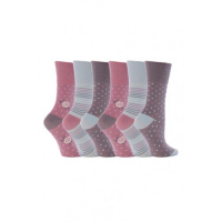Pink, patterned women's socks from the quality sock supplier.