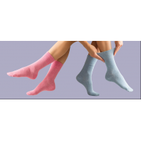 Pink and blue socks from leading diabetic socks supplier, GentleGrip.