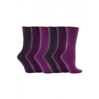 Purple diabetic socks for women from GentleGrip.