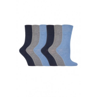 Blue, grey and black diabetic socks from GentleGrip.