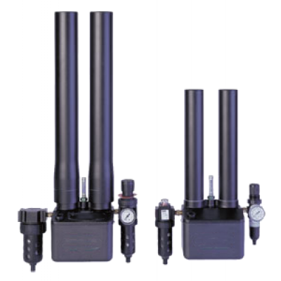 Carbon Dioxide scrubber showing columns and filters