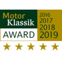 Motor Klassik award for the hail car cover.