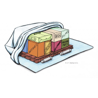 PermaPack safe desiccant in use in a PermaBag.