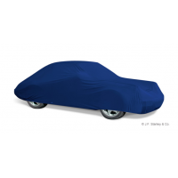 Blue premium car covers from J.F. Stanley & Co.