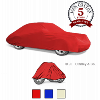 Cotton car cover available in three colours.