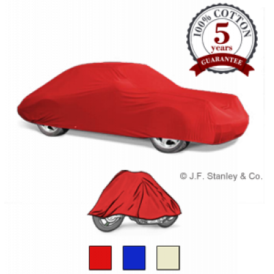 Cotton indoor car cover from J. F. Stanley & Co.