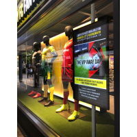 Cloud-based digital signage installed in a retail store.
