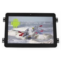 Open frame 10.1-inch Android display front view.