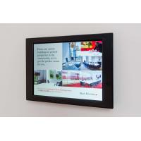 Wall-mounted retail digital signage.