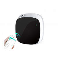Commercial bathroom air freshener with Bluetooth app control.