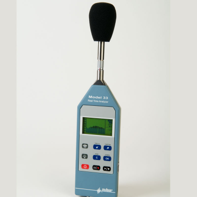 Noise measuring device for professional sound measurements.