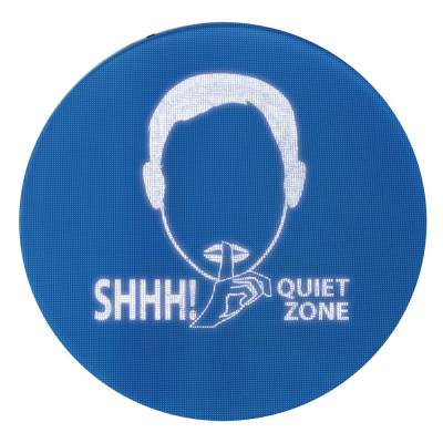 Hospital noise control sign ideal for intensive care and children's wards.