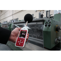 A Cirrus sound level meter in use in a factory.