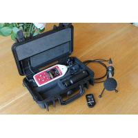 The noisy neighbours sound recorder to accurately measure sound levels.