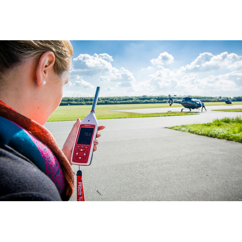 Basic decibel meter for measuring workplace noise levels