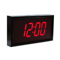 BRG four digit NTP hardware clock  side view