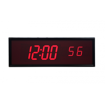 BRG six digit ntp synchronized digital clock front view