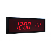 BRG six digit ntp synchronized digital clock side view