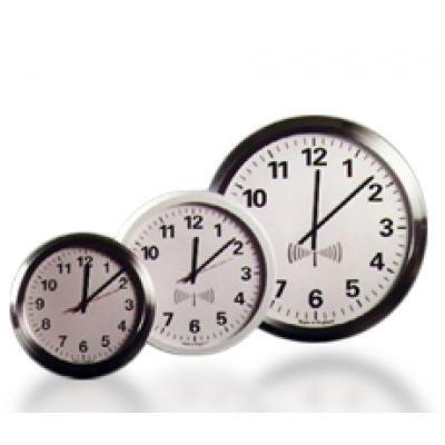 Analogue radio synchronised office clock