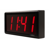 Novanex four digit ethernet digital wall clock side view