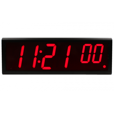 Novanex six digit ethernet digital wall clock front view