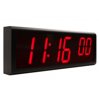 Synchronised digital wall clock left side