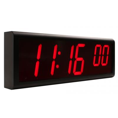 Six digit ethernet NTP digital wall clock