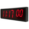 Inova synchronised digital wall clock side view from the right
