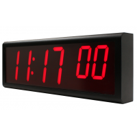 Synchronised digital wall clock right side