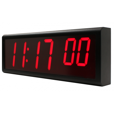 An Ethernet clock which receives time from an NTP time server